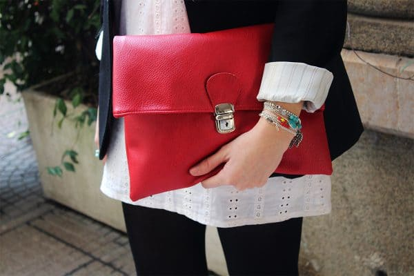 Clutch Figus eco rossa